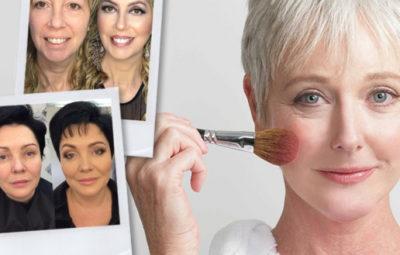 Антивозрастной макияж До и После