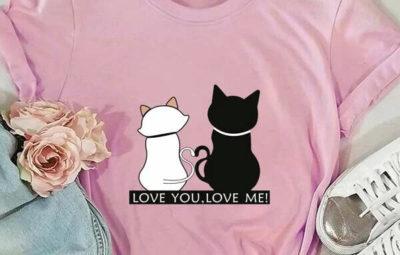 принт с кошками