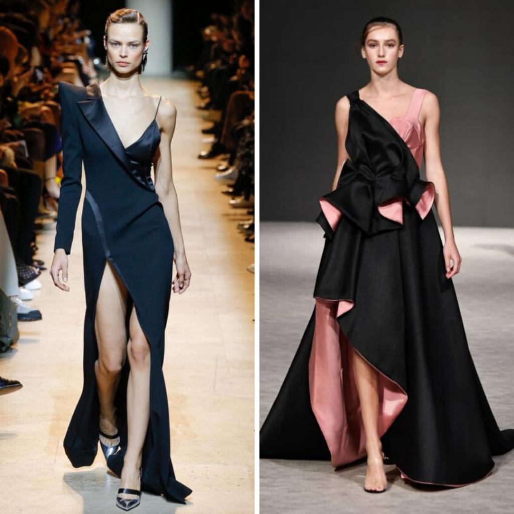 Асимметричные платья мода