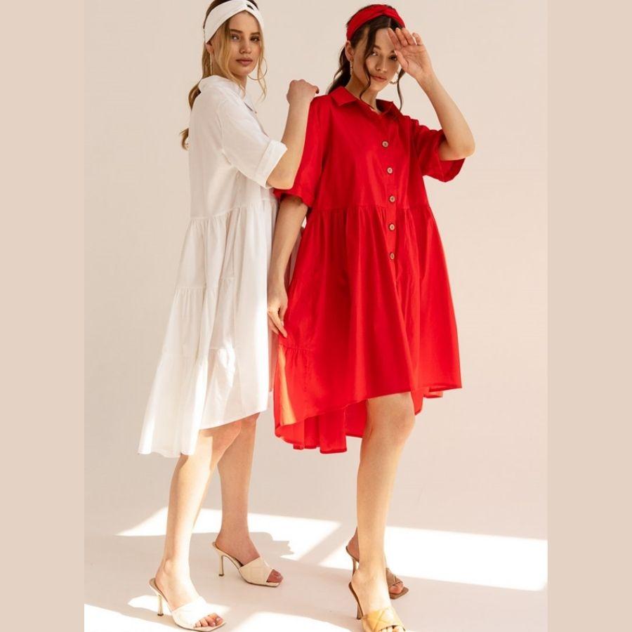 красное платье парашют