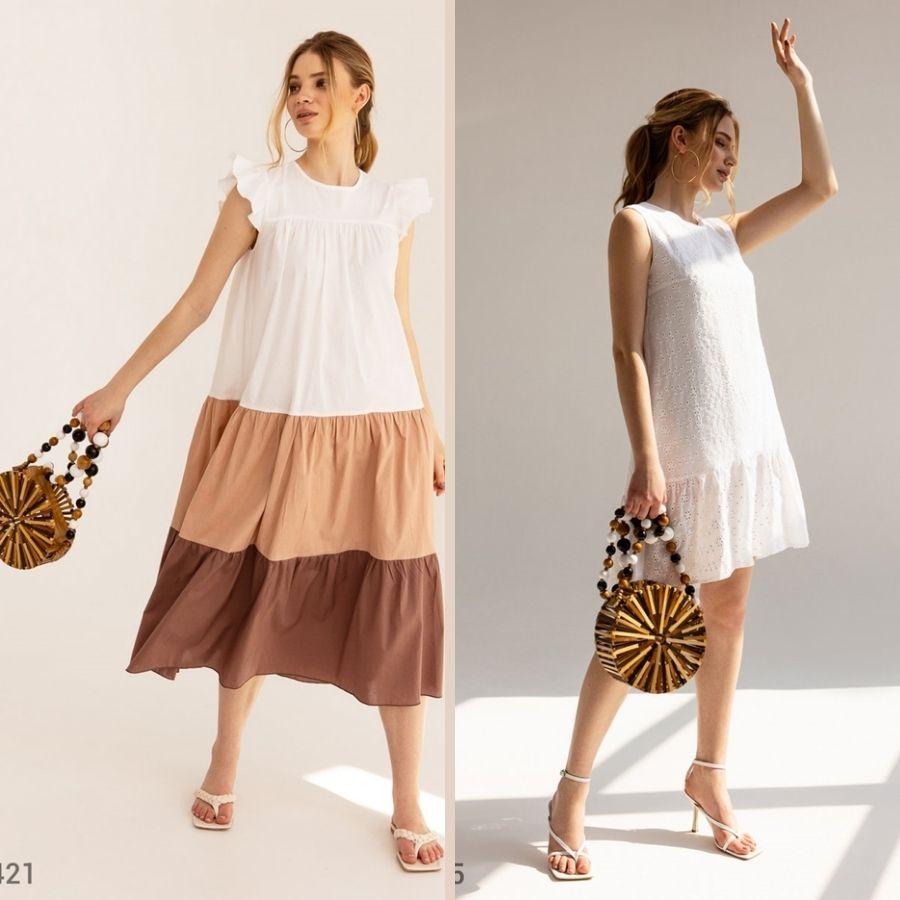летние платья свободного покроя
