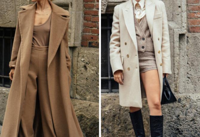 Пальто уличный стиль