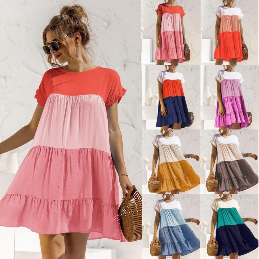 многоярусное разноцветное розовое сумка девушка платье