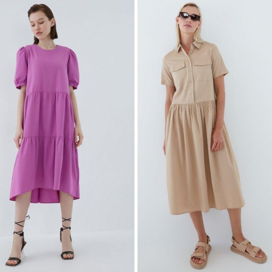 свободные платья для города